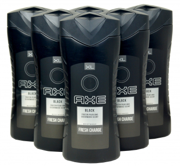 AXE BLACK Fresh Charge Duschgel/Bodywash XL im Vorratspack, 6x400ml