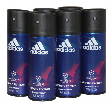 adidas Champions League VICTORY EDITION Deospray im Vorratspack 6x150ml