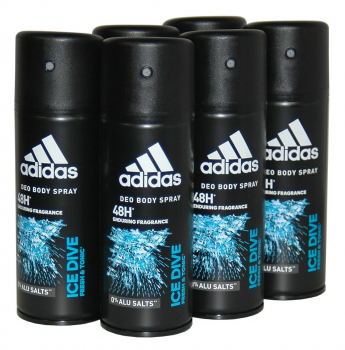 adidas ICE Dive, 48h Deodorant Bodyspray, 6x150ml