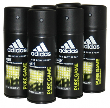adidas PURE Game, 48h Deodorant Bodyspray, 6x150ml