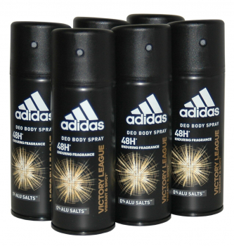 adidas VICTORY League, 48h Deodorant Bodyspray, 6x150ml