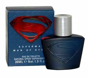 SUPERMAN Man of Steel, Eau de Toilette, Natural Spray, 30 ml