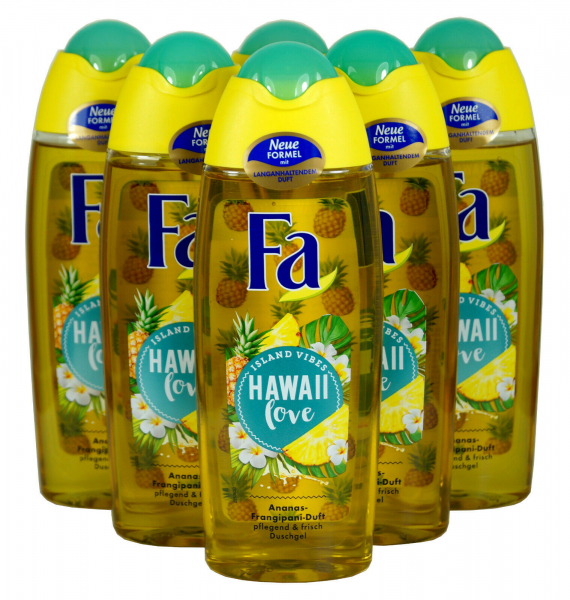 Fa HAWAII Love, Ananas-Frangipani-Duft Duschgel 6 x 250ml