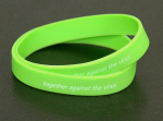 "2 Silikon-Armbänder ""together against the virus"" Freundschaft- / Sport- / Fitness- Band"